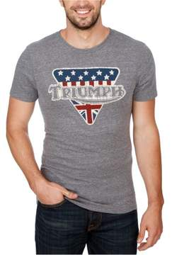 Lucky Brand Mens Triumph Flags Graphic T-Shirt Grey S