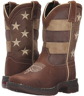 Durango 8 Faded Glory Lil' Rebel Square Toe Cowboy Boots