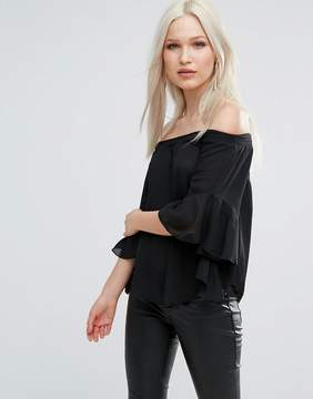 AX Paris Bandeau Top With Flute Sleeves