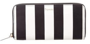Repetto Leather Striped Wallet