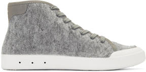 Rag & Bone Grey Wool New Standard High-Top Sneakers