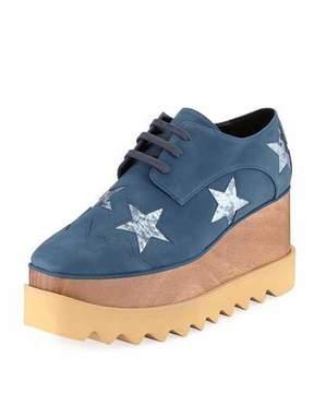 Stella McCartney Elyse Metallic Stars Creeper Skate Sneaker