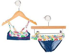 Agatha Ruiz De La Prada Girls' Ruffle-Trimmed Two-Piece Swim Suit w/ Tags