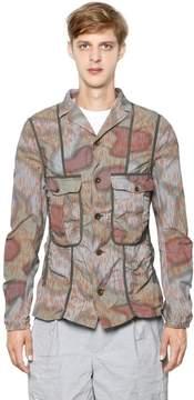 Kolor Printed Wrinkled Cotton Poplin Jacket