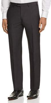 Armani Collezioni Crosshatch Print Regular Fit Dress Pants