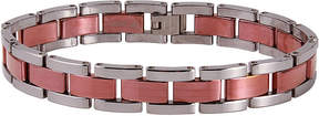 JCPenney FINE JEWELRY Mens Tungsten with Rose Ion-Plated Bracelet