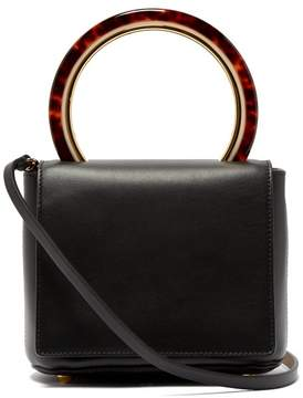 Marni Pannier Small Leather Bag - Womens - Black