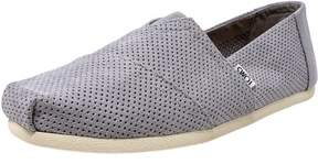 Toms Men's Classic Perforated Suede Drizzle Grey Ankle-High Slip-On Shoes - 12M