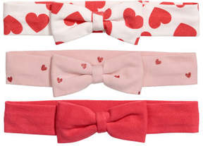 H&M 3-pack Hairbands - Red