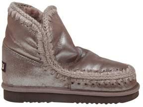 Mou eskimo 18 Metallic Shearling Boots Color Brown
