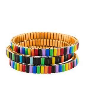 Neiman Marcus Watch Out Stretch Bracelet, Multi
