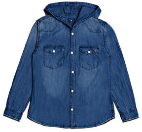 GUESS Hooded Denim Jacket (7-18)