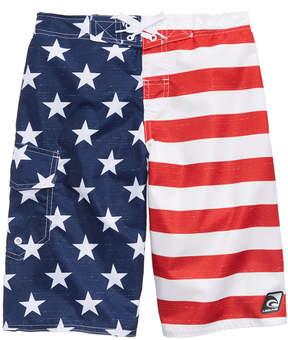 Trunks Laguna Star-Print & Stripes Swim Trunks, Big Boys