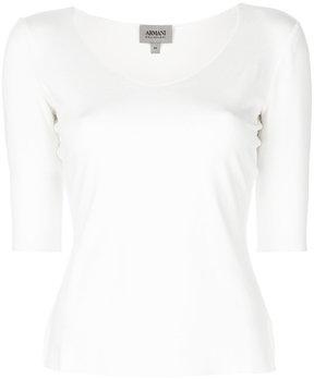 Armani Collezioni three-quarter sleeved jumper