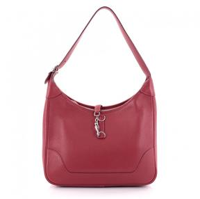 Hermes Red Leather Handbag - RED - STYLE