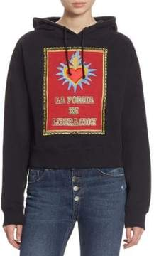 Each X Other Embroidered La Poesia Cotton Hoodie