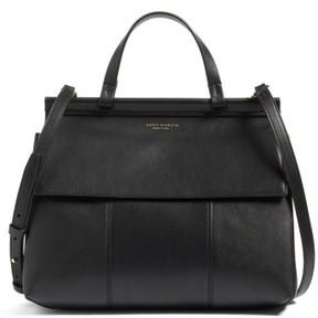 Tory Burch Block T Leather Top Handle Satchel - Black - BLACK - STYLE