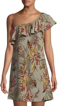 Astr One-Shoulder Ruffle Mini Dress
