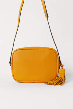 H&M Shoulder Bag with Suede Tassel - Yellow