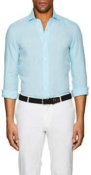 Barba Men's Slub-Weave Linen Shirt