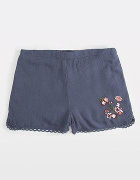 Full Tilt Embroidered Crochet Girls Shorts