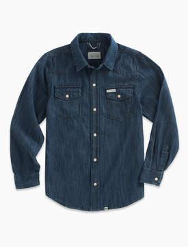 Lucky Brand Long Sleeve Dk Denim Shirt