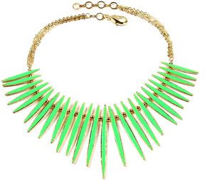 Amrita Singh Green & Goldtone Moma Reversible Bib Necklace