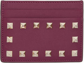 Valentino Purple Garavani Rockstud Card Holder