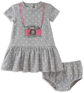 Kate Spade Girls' Polka-Dotted Trompe L'Oeil Camera Dress & Bloomers Set - Baby