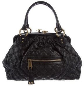 Marc Jacobs Quilted Stam Satchel - BLACK - STYLE