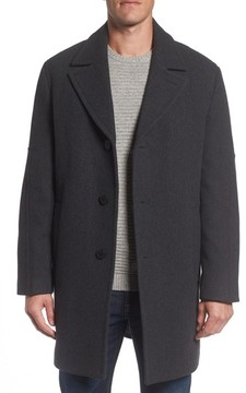 Andrew Marc Men's Herringbone Wool Blend Car Coat