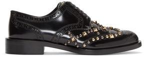 Dolce & Gabbana Black Studded Oxfords