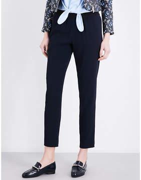 Claudie Pierlot Porto mid-rise straight crepe trousers
