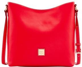 Dooney & Bourke Saffiano Hobo Crossbody Shoulder Bag - RED - STYLE