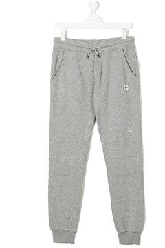 MSGM Teen distressed track pants