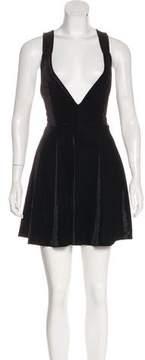 For Love & Lemons Velvet Flounce Dress