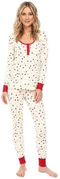 BedHead Long Sleeve Classic Henley Pajama Set