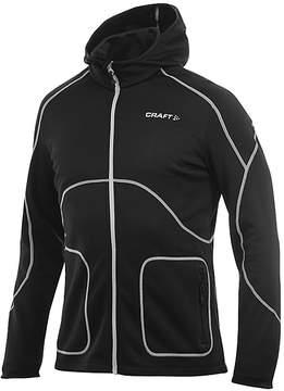 Craft Black Active Full-Zip Hooded Sweatshirt - Men