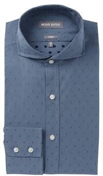 Michael Bastian Diamond Dobby Trim Fit Dress Shirt