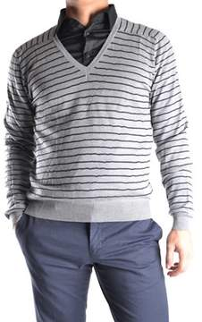 Mauro Grifoni Men's Grey Wool Sweater.