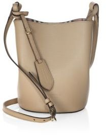 Burberry Lorne Leather Hobo Bag - CAMEL - STYLE
