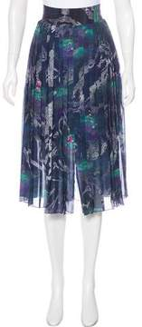 Timo Weiland Pleated Graphic Skirt