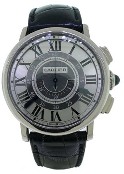 Cartier Rotonde Central Chronograph 18kt White Gold Case Unisex Watch