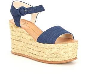 Dolce Vita Dane Linen Platform Espadrille Wedge Sandals