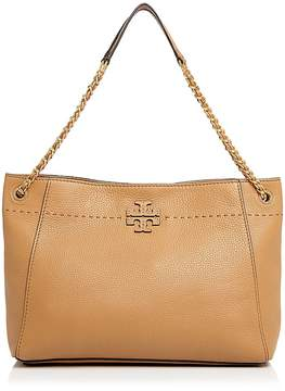 Tory Burch McGraw Chain Shoulder Slouchy Tote - BAGUETTE/GOLD - STYLE