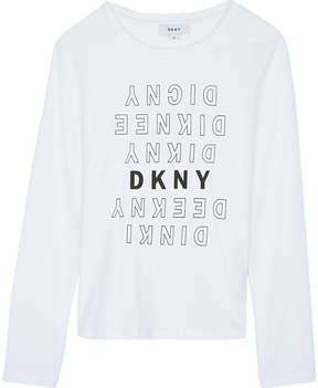 DKNY Long-sleeved logo top 6-16 years