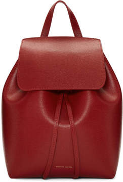 Mansur Gavriel Red Saffiano Mini Backpack