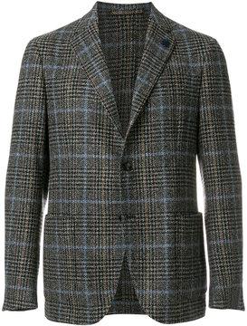 Lardini classic checked blazer