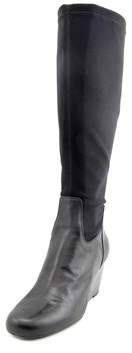 Isaac Mizrahi Kristen Women W Round Toe Canvas Knee High Boot.