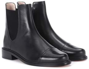 Stuart Weitzman Charlene Bronson leather Chelsea boots